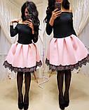 Женское стильное трендовое платье с пышной юбочкой, фото 4
