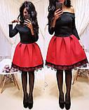 Женское стильное трендовое платье с пышной юбочкой, фото 5