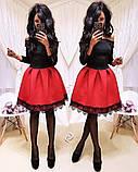 Женское стильное трендовое платье с пышной юбочкой, фото 6