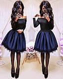 Женское стильное трендовое платье с пышной юбочкой, фото 7