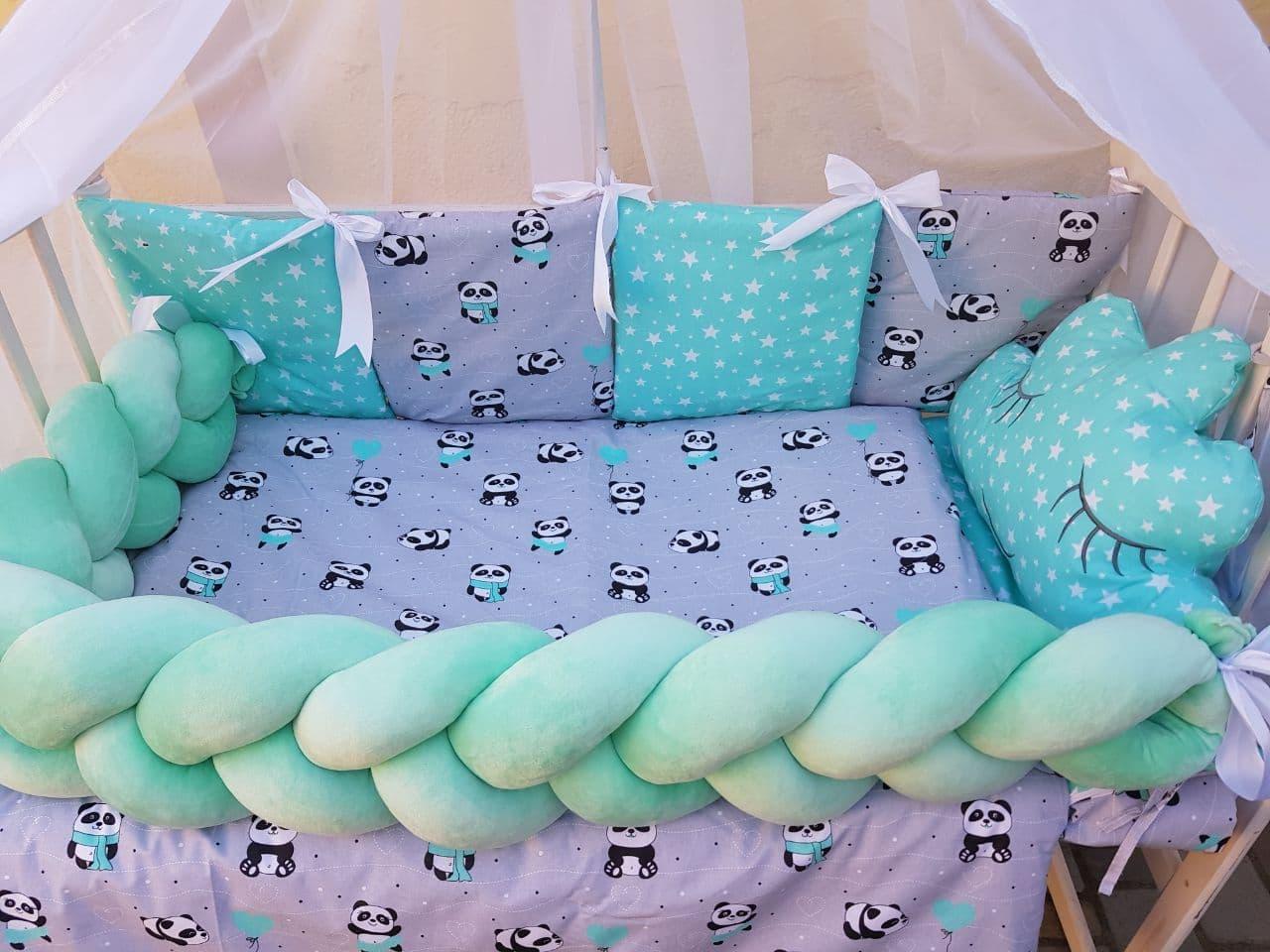 Комплект в детскую кроватку Косичка 007