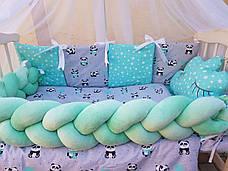 Комплект в детскую кроватку Косичка 007, фото 3