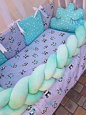 Комплект в детскую кроватку Косичка 007, фото 2