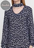 Женское легкое нежное  платье с чокером в цветочный принт, фото 2