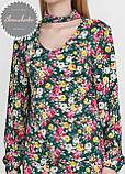 Женское легкое нежное  платье  с чокером в цветочный принт, фото 4