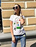 Женская стильная  футболка с рисунком, фото 3