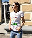 Женская стильная  футболка с рисунком, фото 4