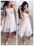 Модное красивое женское эффектное платье, фото 2