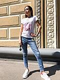 Женская летняя стильная футболка с рисунком Духи, фото 2