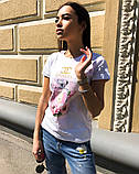 Женская летняя стильная футболка с рисунком Духи, фото 3