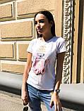 Женская летняя стильная футболка с рисунком Духи, фото 4