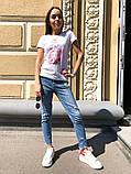 Женская летняя стильная футболка с рисунком Духи, фото 5
