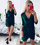 Модное платье на запах из люрекса, фото 2