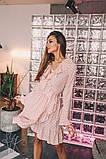 Женское стильное платье Н-492 в горох, фото 2