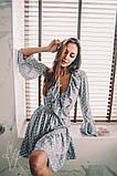 Женское стильное платье Н-492 в горох, фото 4