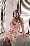 Женское стильное платье Н-492 в горох, фото 5