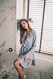 Женское стильное платье Н-492 в горох, фото 6