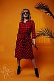 Женское стильное  платье миди Н-5, фото 2