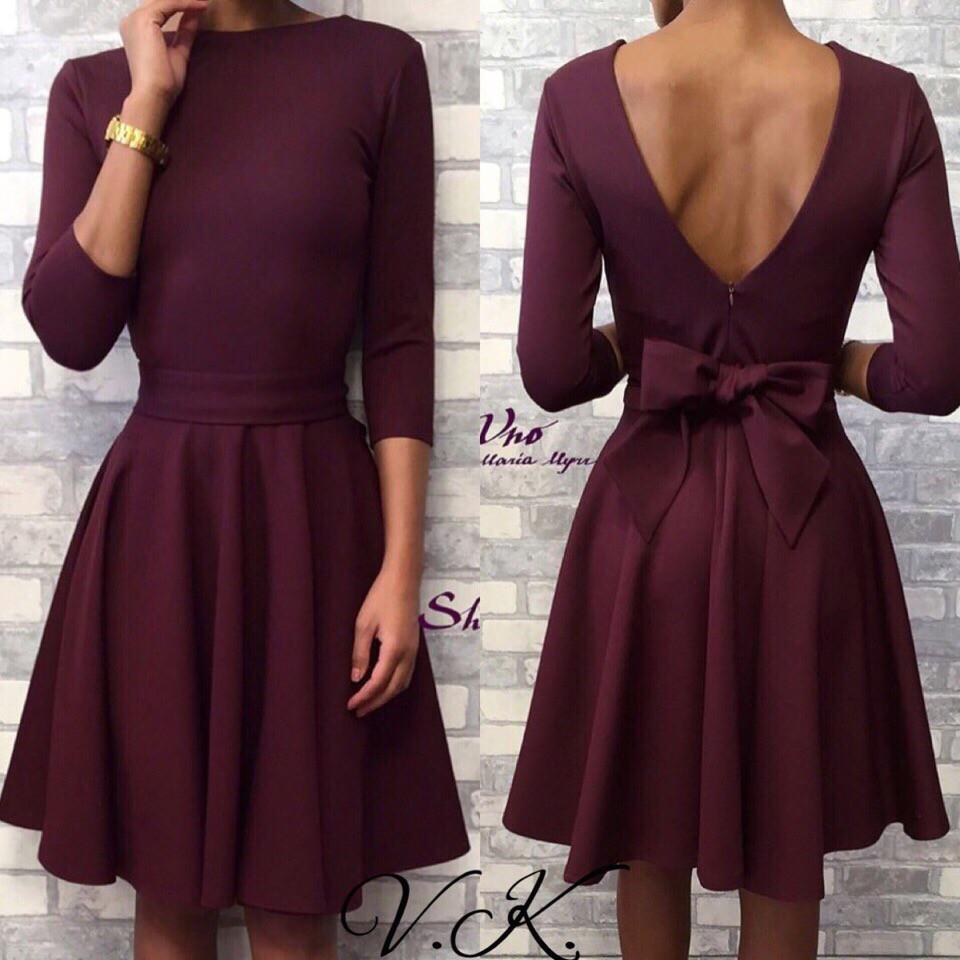 Женское стильное трендовое платье  Н-323