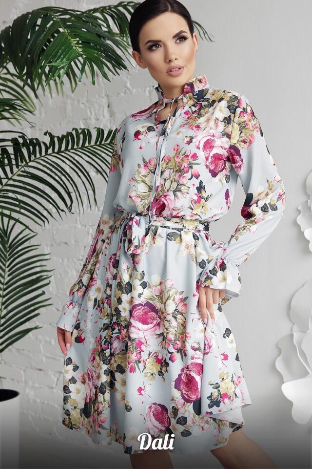 Женское модное платье из креп костюмки