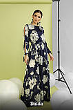 Женское модное длинное платье из шелка с принтом, фото 2