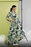 Женское модное длинное платье из софта с принтом, фото 3