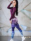 Женские фитнес лосины для спорта с модным принтом, фото 2