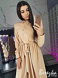 Строгое женское платье длины миди, фото 2
