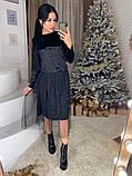 Стильное женское роскошное платье из мраморного бархата, фото 2