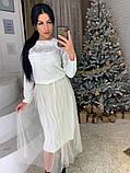 Стильное женское роскошное платье из мраморного бархата, фото 7