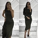 Женское стильное трендовое платье с ветровкой, фото 3