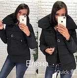 Женская куртка с булавкой черная, фото 2