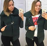 Женская куртка с булавкой черная, фото 3