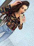 Женская рубашка из креп шифона с принтом, фото 2