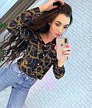 Женская рубашка из креп шифона с принтом, фото 3