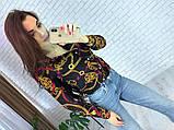 Женская рубашка из креп шифона с принтом, фото 4