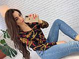 Женская рубашка из креп шифона с принтом, фото 5