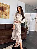 Стильное повседневное женское платье миди, фото 2