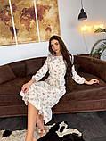 Стильное повседневное женское платье миди, фото 3