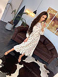 Стильное повседневное женское платье миди, фото 4