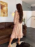 Стильное повседневное женское платье миди, фото 6