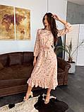 Стильное повседневное женское платье миди, фото 8