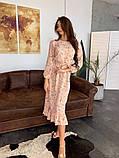 Стильное повседневное женское платье миди, фото 9