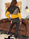 Женский   повседневный  костюм из джерси с принтом, фото 2