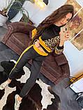 Женский   повседневный  костюм из джерси с принтом, фото 4