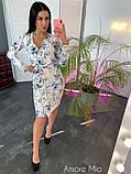 Стильное женское платье  имитация запаха, фото 3