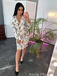 Стильное женское платье  имитация запаха, фото 6