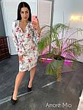 Стильное женское платье  имитация запаха, фото 7