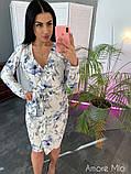 Стильное женское платье  имитация запаха, фото 10
