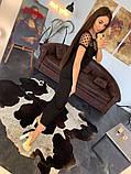 Стильное женское платье  сетка с напылением из бархата, фото 2